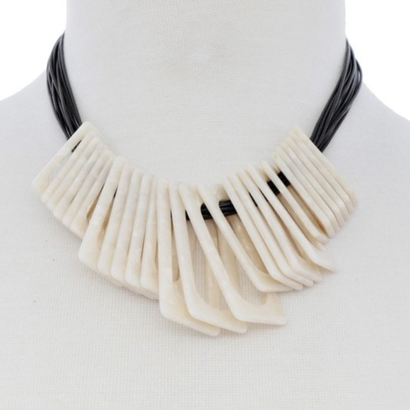 Jewelry - Ivory Rope Statement Necklace